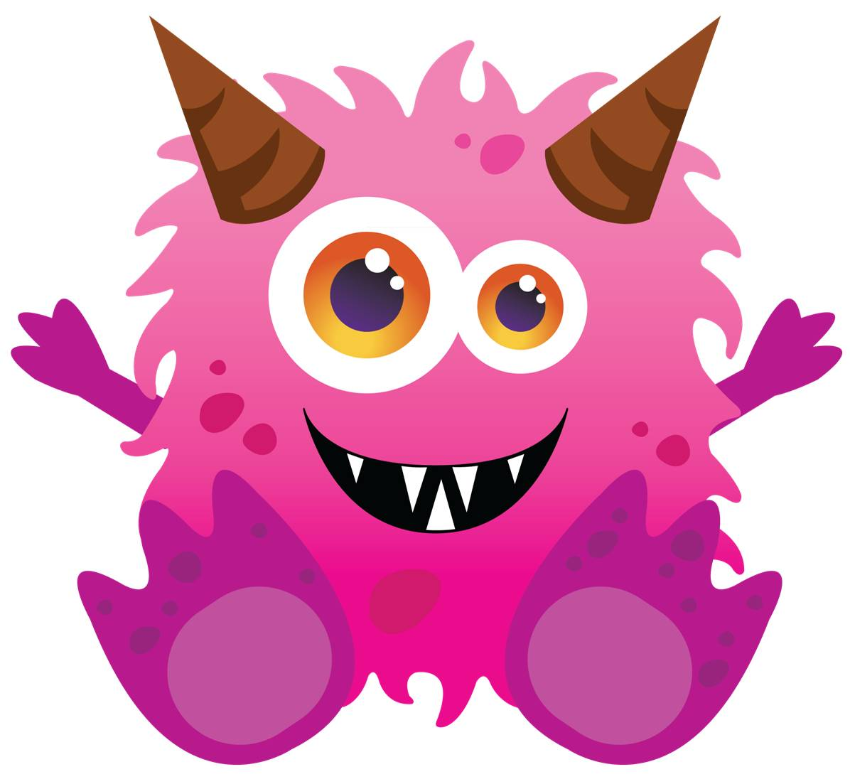 monster monsters cute fluffy clipart pink baby friendly inc clip four delaware coupon kid stuff giveaways days orchid welcomes academy